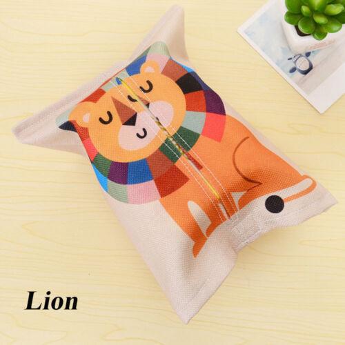 Cute Towel Case Plush Napkin Paper Tissue Boxes Container Porch Cartoon Animal