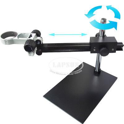 Long Arm Heavy Duty Boom Table Stand F/ Binocular Trinocular Stereo Microscope S