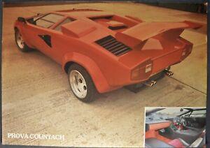 1990-1991-1992 Prova Countach Brochure Sheet Lamborghini Replicar Nice Original