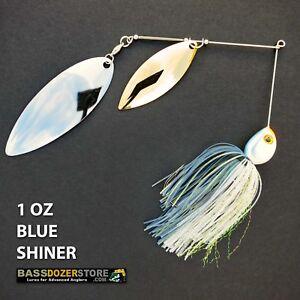 Bassdozer-spinnerbaits-BIG-WILLOW-1-oz-BLUE-SHINER-spinner-bait