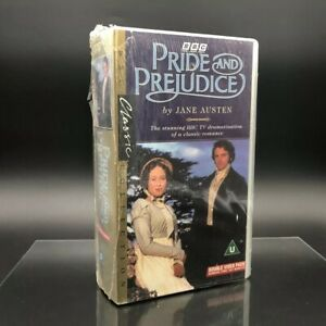 BBC-Pride-and-Prejudice-VHS-Double-Video-Cassettes-UNOPENED-Colin-Firth-1995