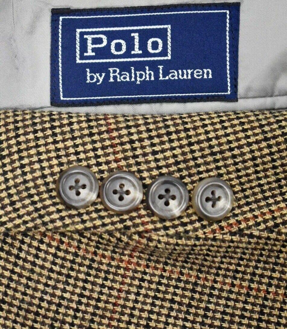 42R Polo Ralph Lauren braun Tweed Windowpane wolleSport Coat Blazer MSRP  495