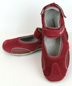 MEPHISTO-All-Rounder-Red-Suede-Leather-Mary-Jane-Walking-Shoes-Women-039-s-US-7