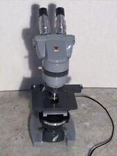 American Optical Spencer Professional Binocular Microscope With Illuminator Base