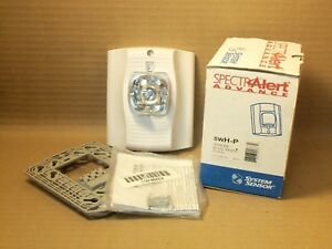 New-System-Sensor-SwH-P-Strobe-HI-CD-White-Plain-Fire-Alarm