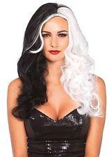 Leg Avenue Cruella de Vil 101 Dalmatians Villain Halloween Costume Wig A2672