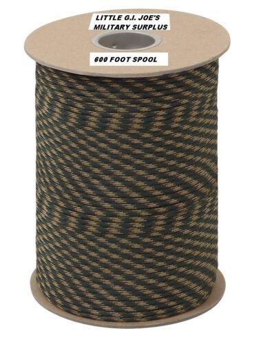 environ 249.48 kg environ 182.88 m 323 7 Brin 100/% Nylon madeusa Parachute Paracord Bobine 600 FT Camouflage 550 LB