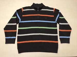 PAUL-amp-SHARK-JUMPER-SWEATER-MENS-SIZE-LARGE-GREAT-COND-1-4-ZIP-UP-STRIPES