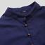 miniatura 8 - Para hombres mangas Largas Estilo Lino Sólido Camisas Casual Ajuste Camiseta Vestido Formal