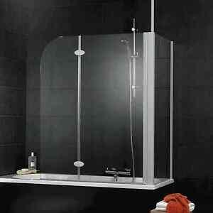 schulte badewannenaufsatz wannenaufsatz 2 teilig mit seitenwand sicherheitsglas ebay. Black Bedroom Furniture Sets. Home Design Ideas