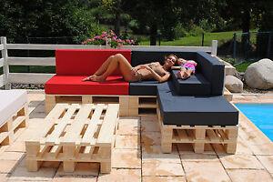 lounge paletten sofa palettenpolster kissen polster palettenkissen m klettband ebay. Black Bedroom Furniture Sets. Home Design Ideas