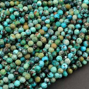 Gemstone faceted Turquoise faceted Round Beads turquoise faceted 3mm