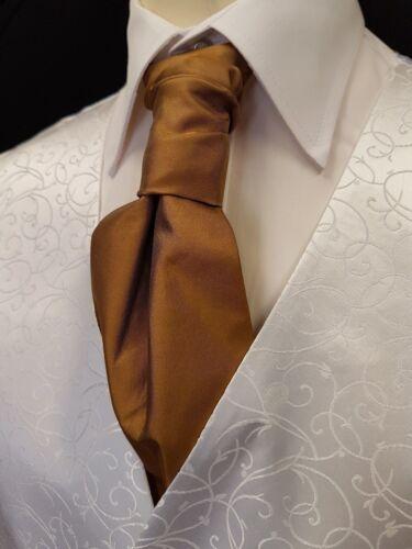SW2 Mens Brand New Ivory Wedding Evening Formal Suit Waistcoat Cravat