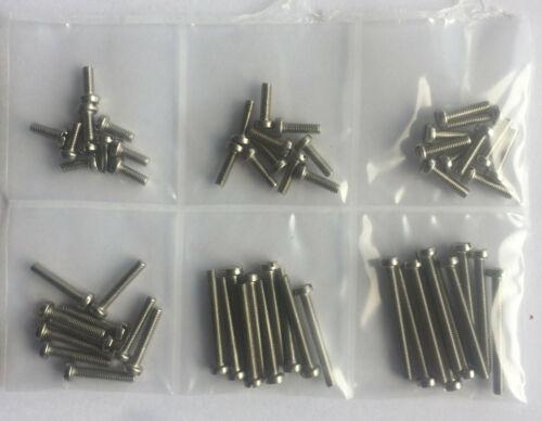 60tlg. Sortiment Zylinderschrauben mit Schlitz DIN 84//A2 M3 Edelstahl