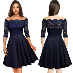 Women-039-s-Vintage-Scallop-Lace-Dress-Perfect-for-Homecoming-Formal-and-More