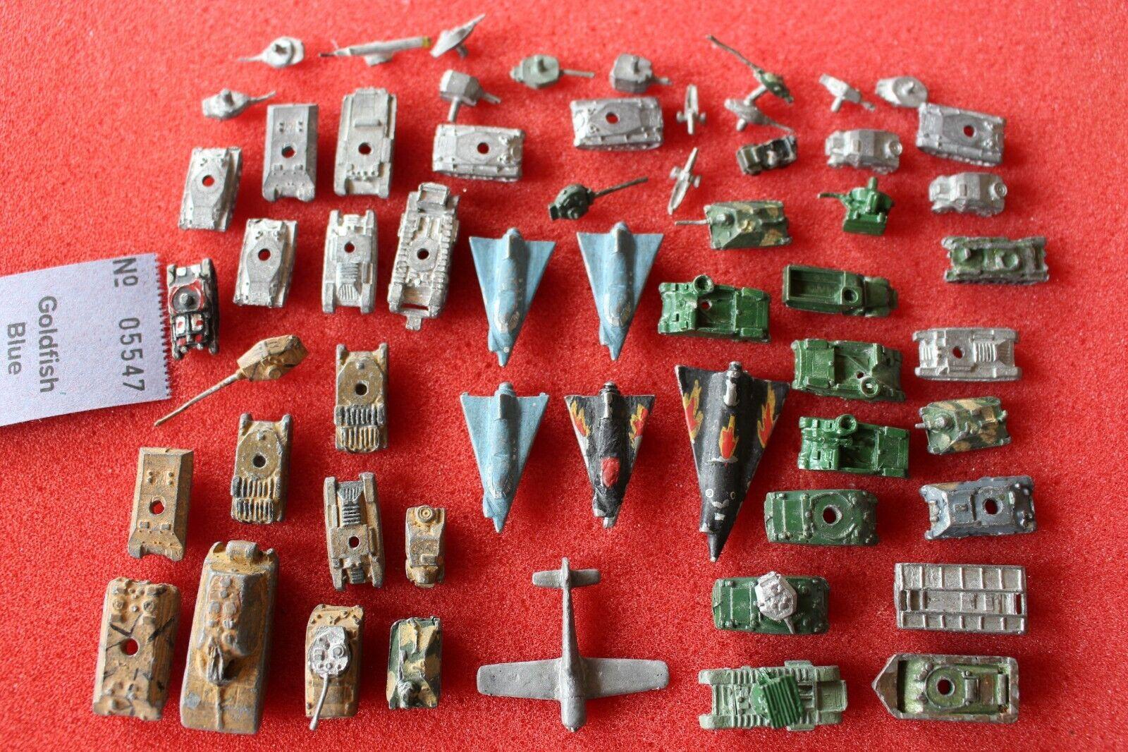 Die Cast Metal Vintage Tanques Aviones APC Segunda Guerra Mundial Lote de Trabajo de vehículos de Metal Miniatures