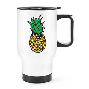 a349d4e3a8d Details about Pineapple Travel Mug Cup With Handle - Funny Cute Fruit  Thermal Flask
