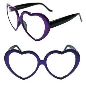 de1241d12c Women s Heart Shape thick Clear Lens Glasses Barbie Vintage Black ...