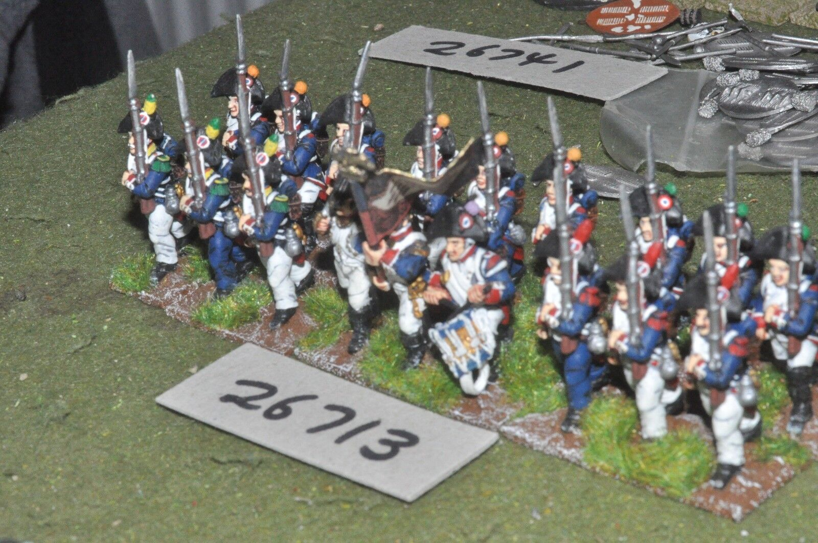 25mm napoleonic   french - line 18 figures - inf (26713)