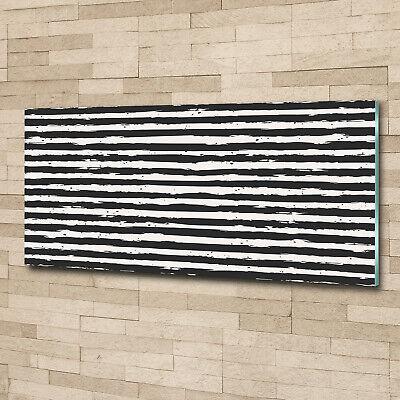 Acrylglas-Bild Wandbilder Druck 125x50 Deko Sonstige Schwarzweiß-Streifen