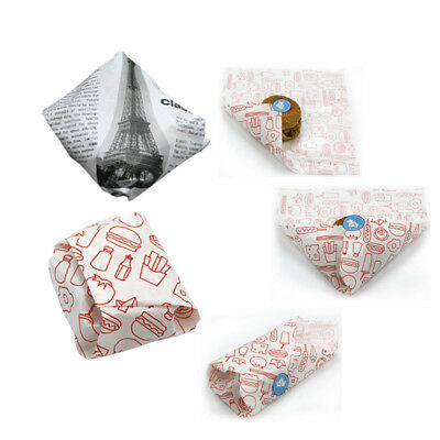 """50pcs 12/'/'x 12/""""Wrapping Paper Wax Parchment Paper For Hamburg Chips Cookies Cake"""