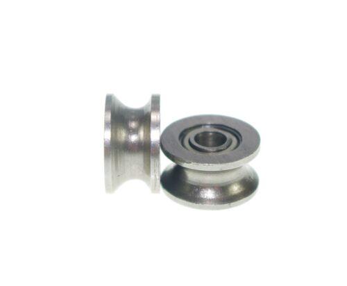 4x16.5x7.1mm 634UU 4mm U Groove Guide Pulley Sealed Rail Ball Bearing 10