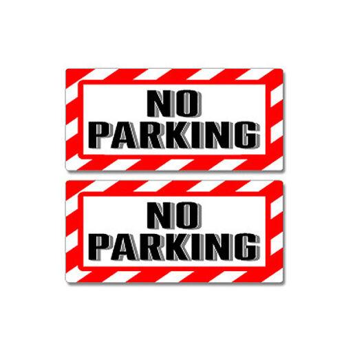 No Parking Sign Window Business Sticker Set