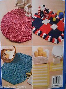 Throw Rug Knitting Patterns : Big Needle Knit Rugs: 10 yarn throw rug knitting patterns eBay
