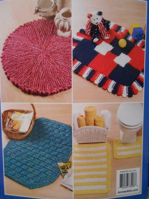 Big Needle Knit Rugs 10 Yarn Throw Rug Knitting Patterns Ebay