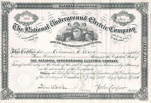 NEW-JERSEY-1881-National-Underground-Electric-Co-Stock-Certificate