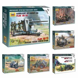 Model-Kits-034-German-artillery-pieces-ordnance-with-Crew-WWII-034-1-72-Zvezda