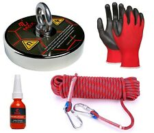 Maxmagnets 1800 Lbs Pulling Force Fishing Magnet Kit With Heavy Duty Rope