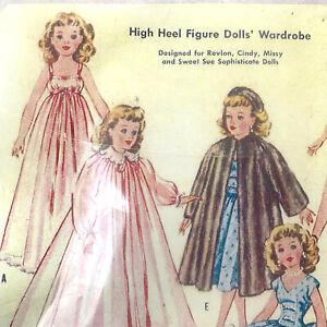 Vintage-1957-McCall-2162-Revlon-Sweet-Sue-22-034-Doll-Pattern-Xeroxed-Copy