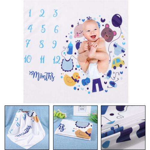 Neugeboren Baby Meilenstein Decke Fotografie Hintergrund  Fotostudio 100x110CM