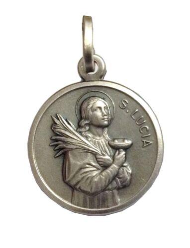 Saint Lucy-Argent Sterling 925 médaille