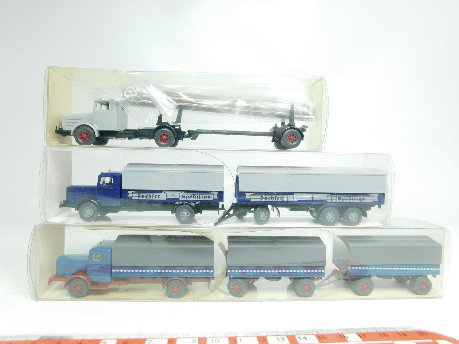 BJ488-0,5x Wiking H0 1 1 1 87 LKW Büssing  478 + 858 Dachser + 839, NEUW+OVP bd2971