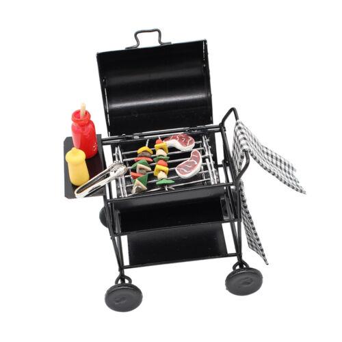 1//12 Doll House Miniature DIY Dinning Room Accessories BBQ Kitchen Toy Set