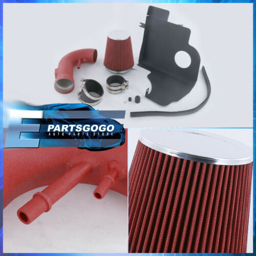 For 11-14 Ford Mustang Boss V8 Air Intake Induction Heat Shield Red Piping Kit