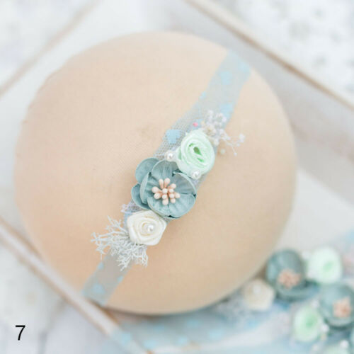 Headwear Floral Hair Accessories Pearl Flower Baby Headband Photography props