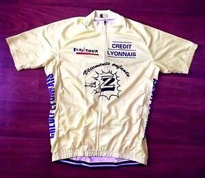 super populaire 11e49 75b40 Details about Brand New Team Z Vetement Yellow Jersey cycling Jersey Lemond  Tour De France