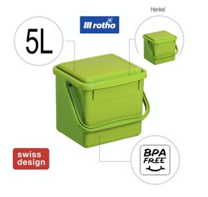 Rotho Kompost-Eimer Bio-Mülleimer Tisch-Abfall Komposter mit Deckel Filter 4,5 l