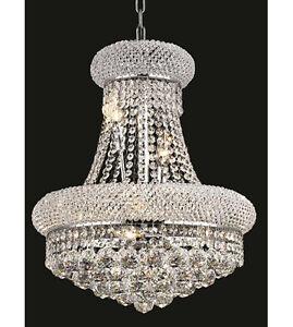 Palace bangle 20 h 8 lights crystal chandelier light in chrome image is loading palace bangle 20 034 h 8 lights crystal aloadofball Choice Image