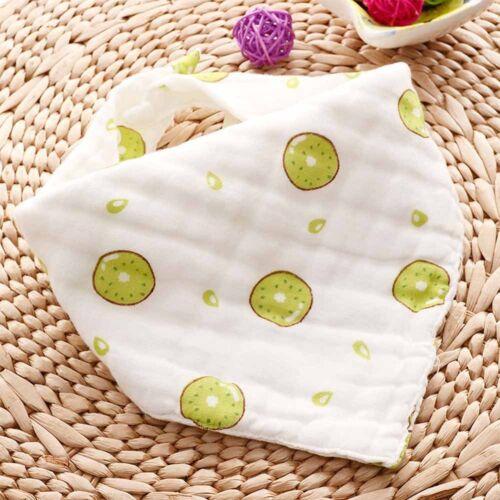 Layers Cotton Gauze Kids Towel Feeding Baby Clothing Bibs Burp Cloths Triangle