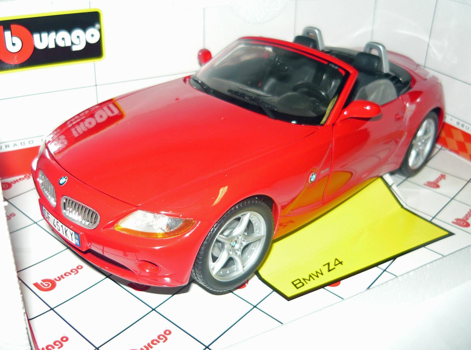 Bburago 33334046r, bmw z4 cabrio, rojo, rojo, rojo, 1 18, nuevo & en embalaje original a2d4a3