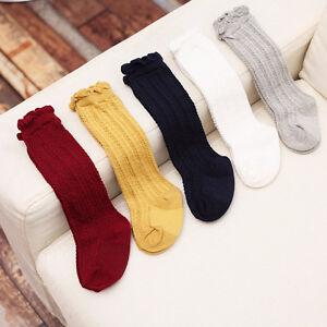 Bambins-nouveau-nes-genoux-chaussettes-haute-chaussette-bebe-soliBB