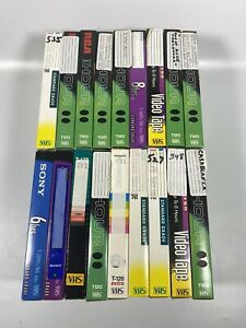 Lot-Of-18-Pre-Recorded-Mix-Label-T-120-VHS-Tapes-Sold-As-Used-Blanks-T10