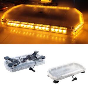 Amber-LED-Recovery-Light-Bar-600mm-12-24-Flashing-Beacon-Truck-Strobe-Light-ET