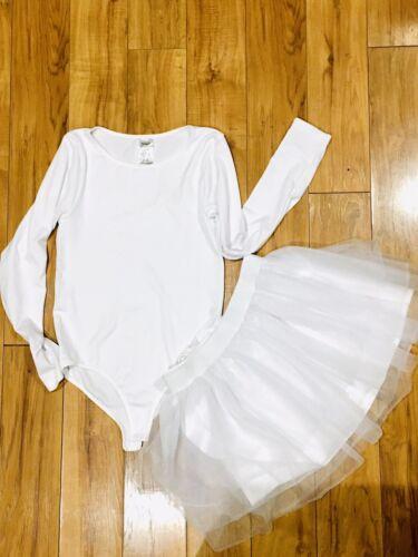 Halloween Costume tutu leotard white small ballet