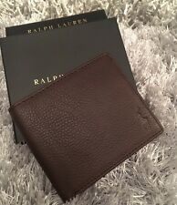 Polo Ralph Lauren Brown Leather Wallet Gift Box Mens AUTHENTIC FATHERS DAY