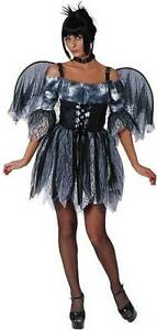 7f670e84a1c Details about Zombie Fairy Pixie Gothic Fallen Angel Dress Up Sexy  Halloween Adult Costume